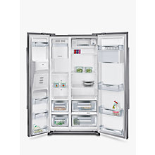 Buy Siemens KA90DVI20G Freestanding iQ500 American Style Fridge Freezer, A+ Energy Rating, 91cm Wide, Stainless Steel Online at johnlewis.com