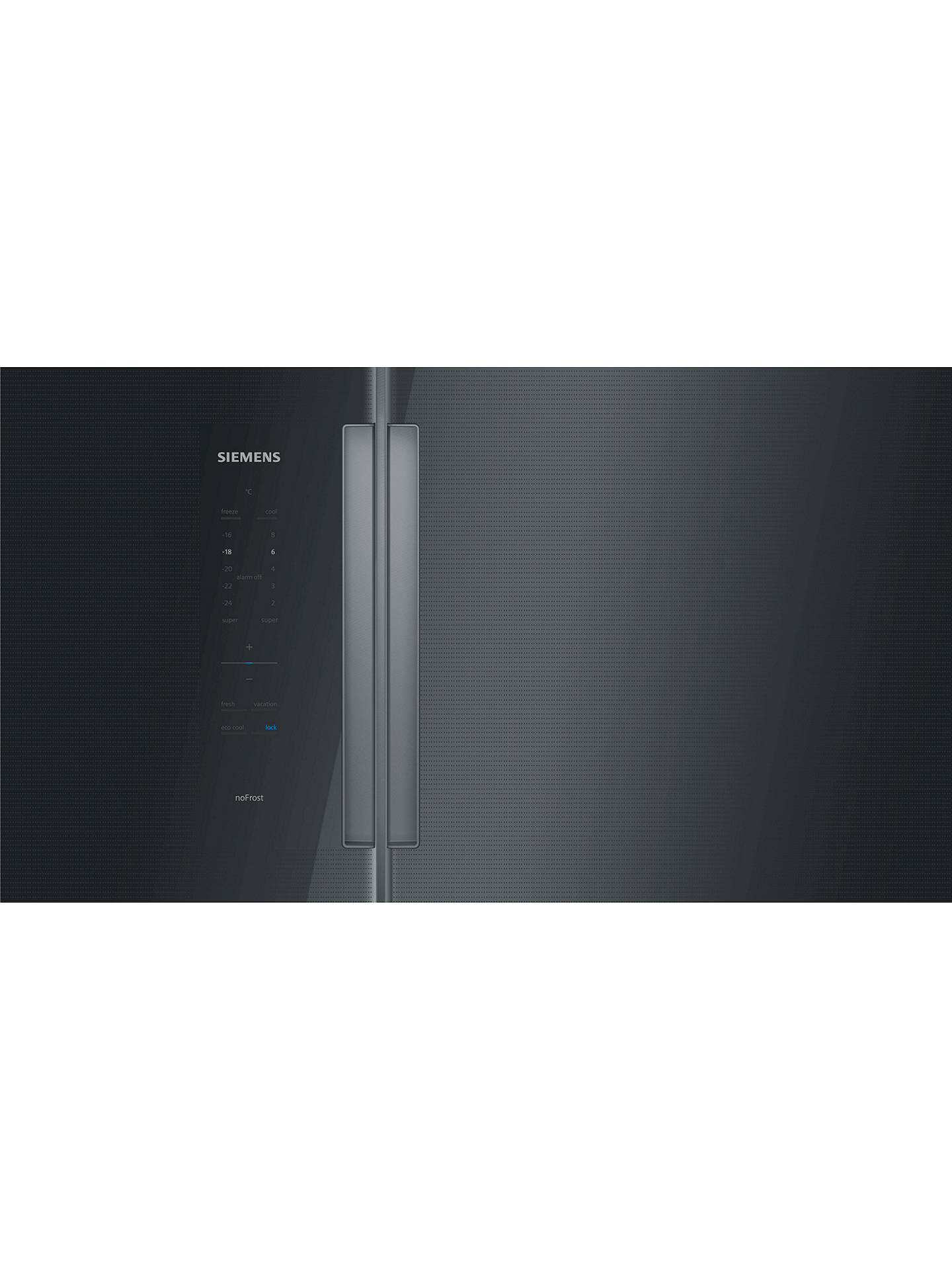 BuySiemens KA92NLB35G American Style Fridge Freezer, A++ Energy Rating, 91cm Wide, Black Online at johnlewis.com