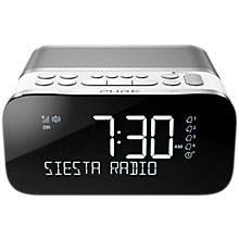 Buy Pure Siesta S6 DAB/DAB+/FM Bluetooth Bedside Clock Radio Online at johnlewis.com