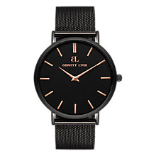 Buy Abbott Lyon Women's Stellar 40 Date Mesh Bracelet Strap Watch, Black Online at johnlewis.com