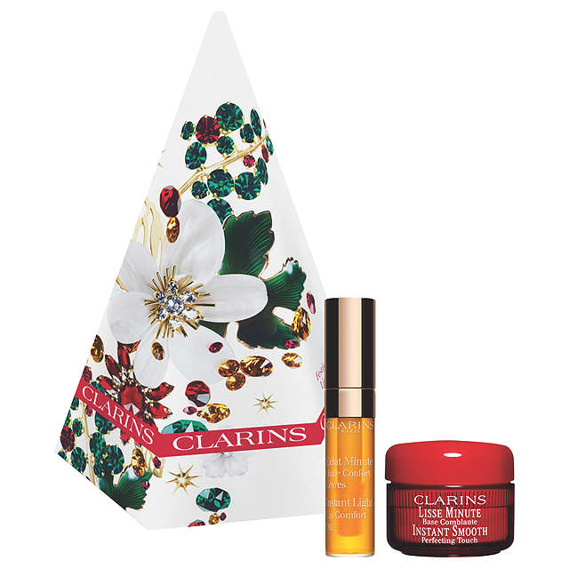 BuyClarins Festive Treats Eyes And Lip Skincare Gift Set Online at johnlewis.com