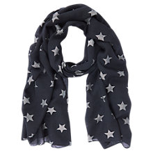 Buy Mint Velvet Linear Star Foiled Scarf, Dark Blue Online at johnlewis.com