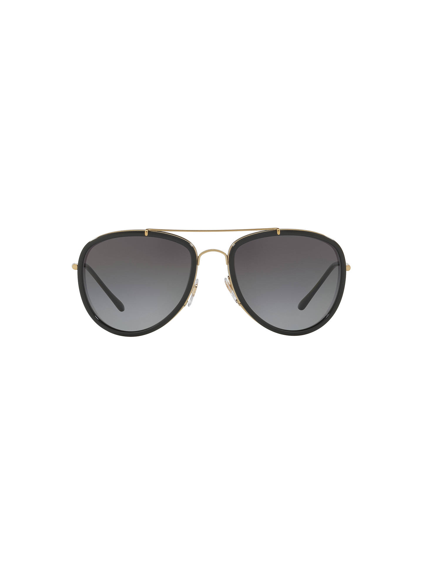 Buy Burberry BE3090 Polarised Aviator Sunglasses, Gold/Grey Gradient Online at johnlewis.com