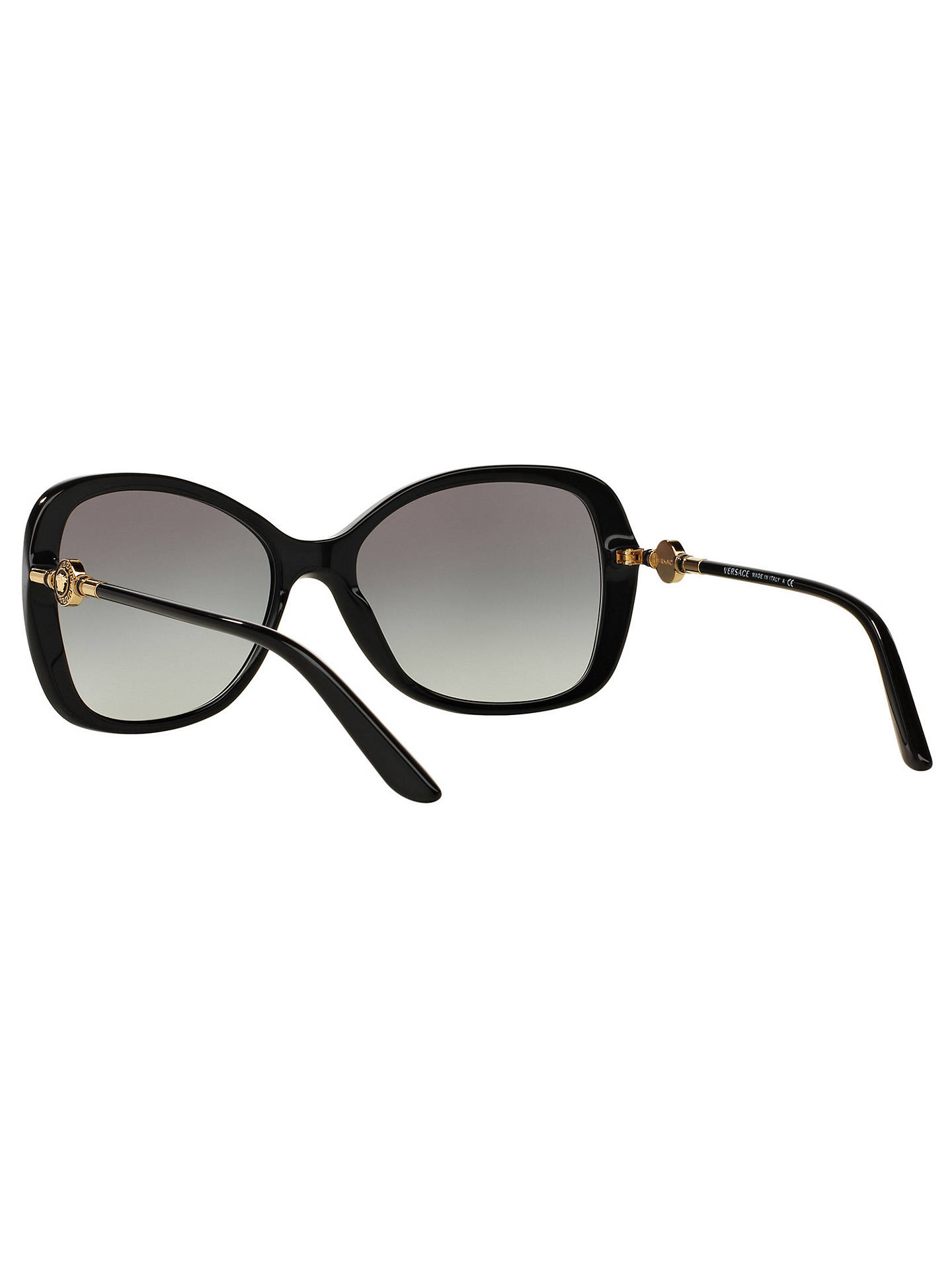 9627fc37c026 ... Buy Versace VE4303 Oversized Square Sunglasses, Black/Grey Gradient  Online at johnlewis.com ...