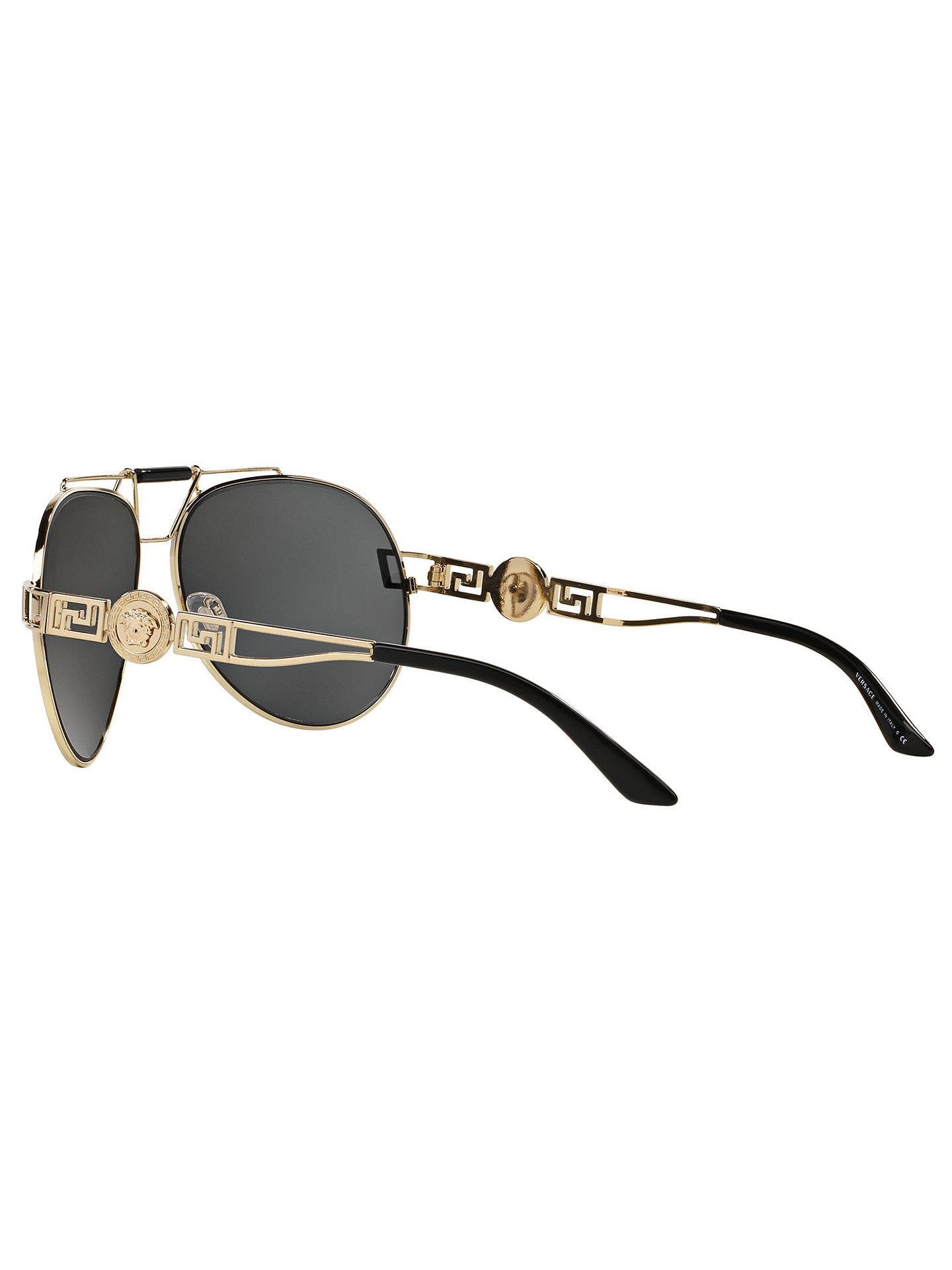 8a2642318f Versace VE2160 Aviator Sunglasses at John Lewis   Partners
