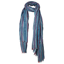 Buy Fat Face Festival Stripe Pattern Scarf, Green/Multi Online at johnlewis.com