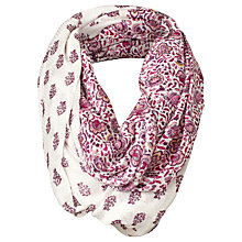 Buy Fat Face Half and Half Floral Snood, Ivory/Multi Online at johnlewis.com