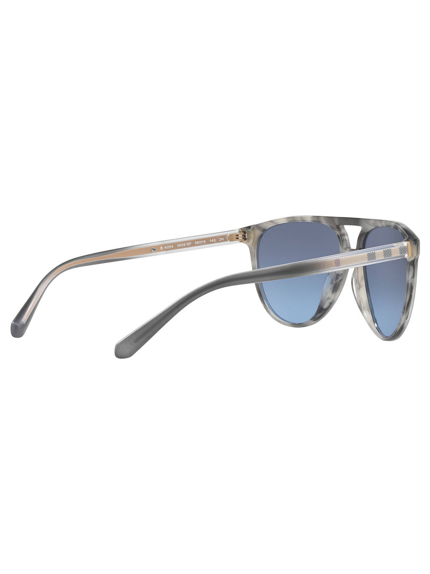BuyBurberry BE4254 Aviator Sunglasses, Grey/Blue Online at johnlewis.com