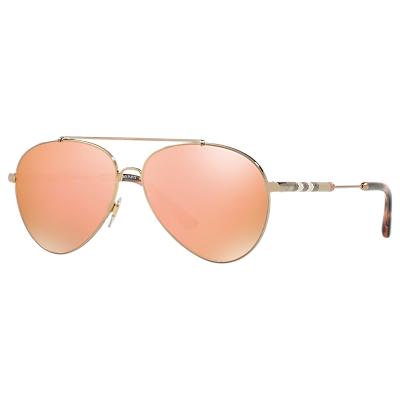 Burberry BE3092Q Women's Aviator Sunglasses