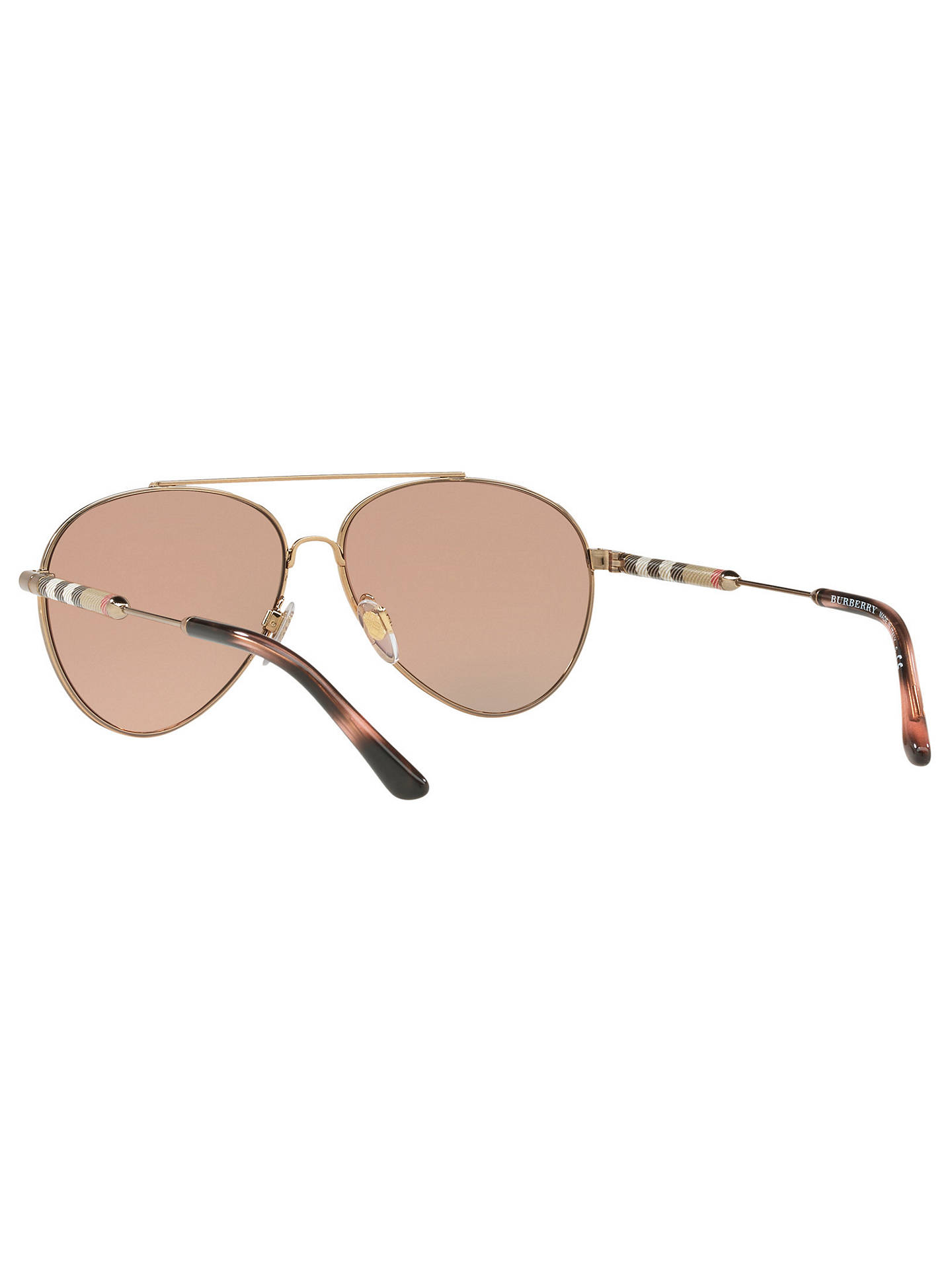 Buy Burberry BE3092Q Women's Aviator Sunglasses, Pink/Gold Online at johnlewis.com
