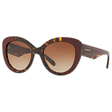 Buy Burberry BE4253 Round Lens Sunglasses, Tortoise/Brown Online at johnlewis.com