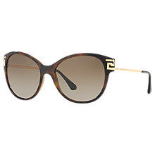 Buy Versace VE4316B Embellished Cat's Eye Sunglasses, Tortoise/Brown Gradient Online at johnlewis.com