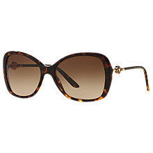 Buy Versace VE4303 Oversized Square Sunglasses, Tortoise/Brown Gradient Online at johnlewis.com