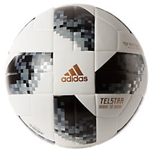 Buy Adidas World Cup Top Replique Football, Size 5, White Online at johnlewis.com