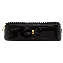 Buy Ted Baker Jass Bow Tri Pencil Case, Black Online at johnlewis.com