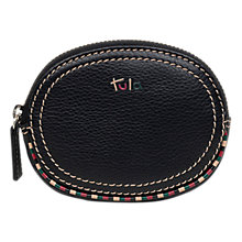 Buy Tula Mallory Leather Small Zip Coin Purse, Black Online at johnlewis.com