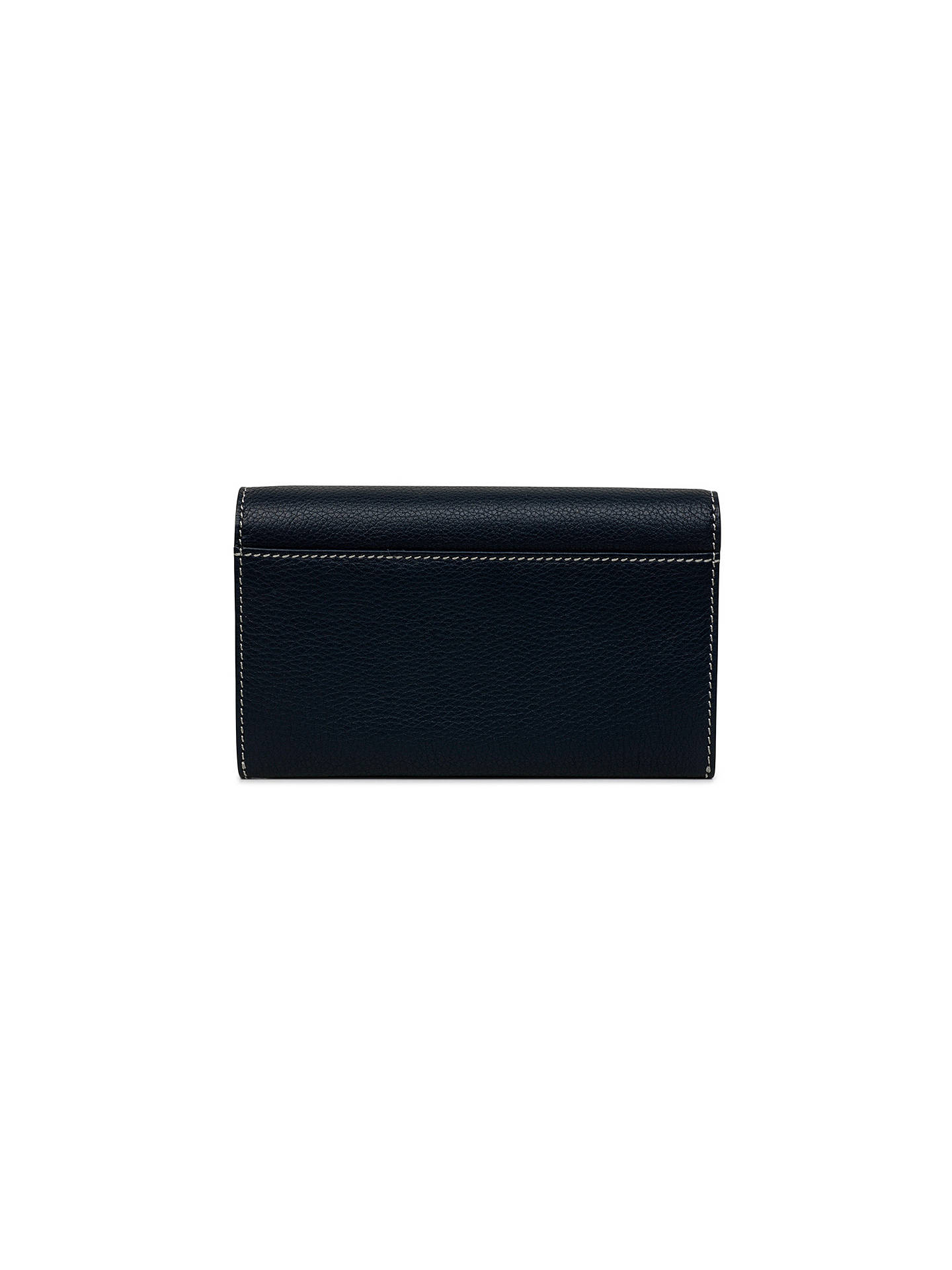 249888336e0 ... BuyTula Mallory Leather Large Flapover Matinee Purse, Dark Azure Online  at johnlewis.com