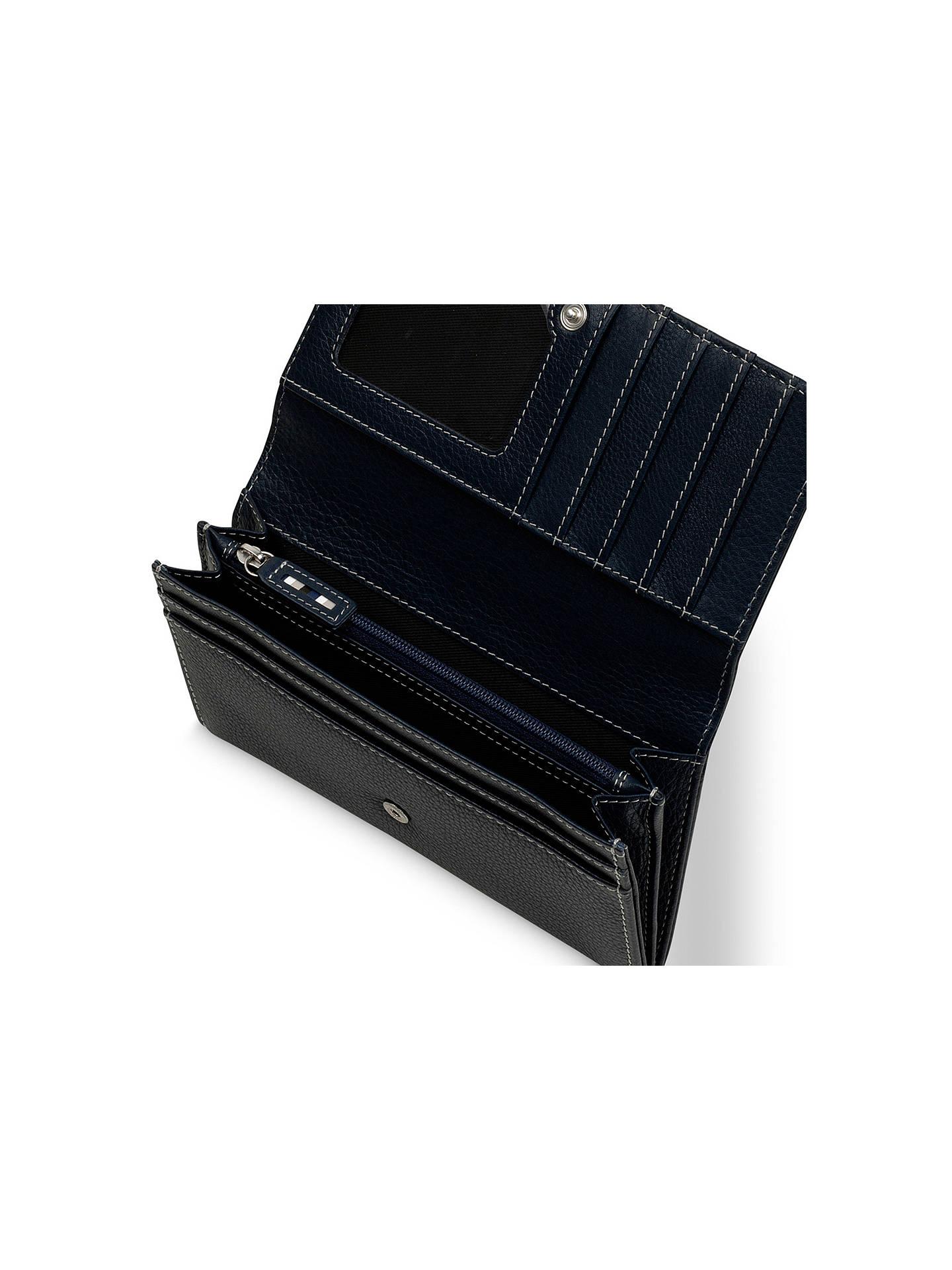 83f4481e19c ... BuyTula Mallory Leather Large Flapover Matinee Purse, Dark Azure Online  at johnlewis.com ...