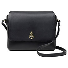 Buy Tula Originals Leather Small Flap Over Across Body Bag, Black Online at johnlewis.com