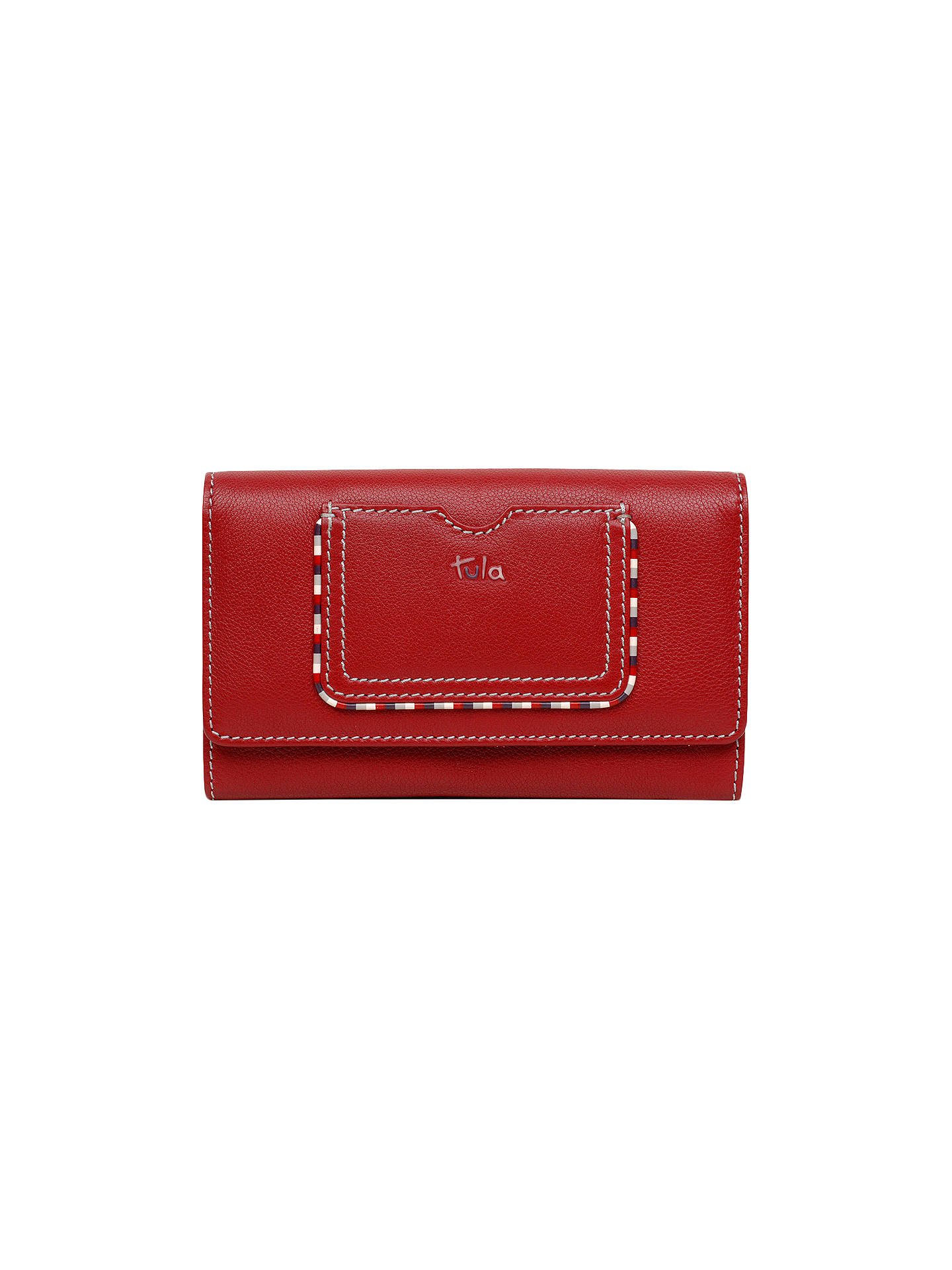 1d90da27ec3 BuyTula Mallory Leather Large Flapover Matinee Purse, Scarlet Online at  johnlewis.com ...