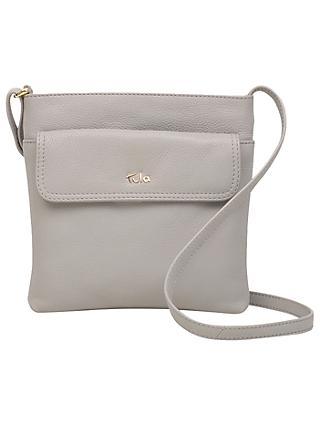 Tula Na Originals Pebble Leather Medium Zip Top Cross Body Bag