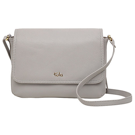 Tula Na Originals Leather Small Flapover Cross Body Bag Online At Johnlewis