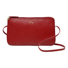 Buy Tula Originals Pebbled Leather Across Body Zip Bag Online at johnlewis.com