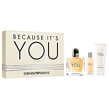 Buy Emporio Armani Because It's You 100ml Eau de Parfum Fragrance Gift Set Online at johnlewis.com