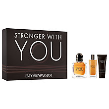 Buy Emporio Armani Stronger With You For Men 50ml Eau de Toilette Fragrance Gift Set Online at johnlewis.com