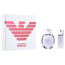 Buy Emporio Armani Diamonds She Violet 50ml Eau de Parfum Fragrance Gift Set Online at johnlewis.com