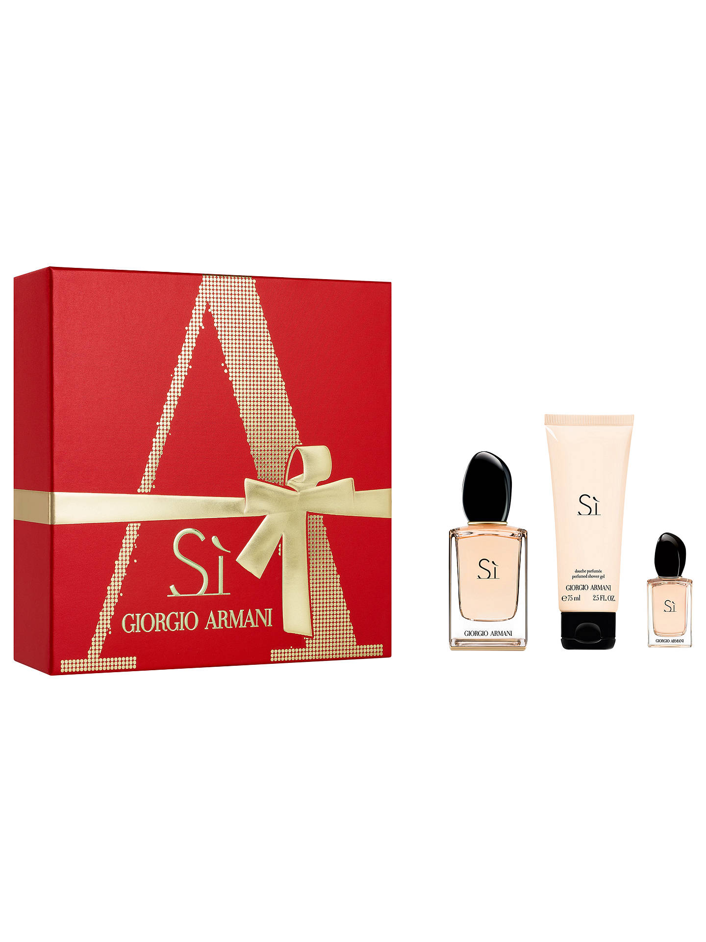 BuyGiorgio Armani Si 50ml Eau de Parfum Fragrance Gift Set Online at johnlewis.com