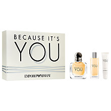 Buy Emporio Armani Because It's You 50ml Eau de Parfum Fragrance Gift Set Online at johnlewis.com