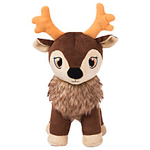 Buy Portable North Pole Karamelli Santa's Sweetest Baby Reindeer Plush Toy, Brown Online at johnlewis.com