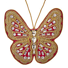 Buy John Lewis Tales of the Maharaja Embellished Butterfly Tree Decoration Online at johnlewis.com