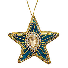 Buy John Lewis Tales of the Maharaja Embroidered Star Tree Decoration Online at johnlewis.com