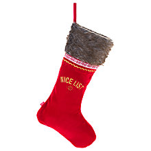 Buy Portable North Pole Double Sided Deluxe Christmas Stocking, Red Online at johnlewis.com