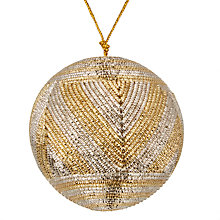 Buy John Lewis Winter Palace Metallic Chevron Bauble Online at johnlewis.com