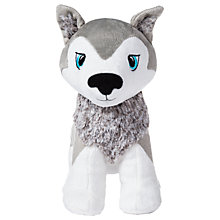 Buy Portable North Pole Santa's Playful Husky Puppy Okida Plush Toy, Grey Online at johnlewis.com