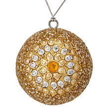 Buy John Lewis Tales of the Maharaja Sun Beaded Bauble, Gold / Silver Online at johnlewis.com