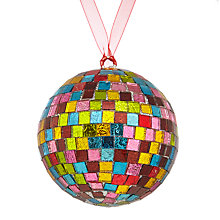 Buy John Lewis Lima Llama Mosaic Disco Ball Bauble Online at johnlewis.com