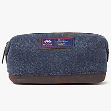 Buy John Lewis Made in England Moon Wool Herringbone Wash Bag, Blue Online at johnlewis.com