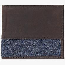 Buy John Lewis Moon Wool Leather Wallet, Brown/Blue Online at johnlewis.com