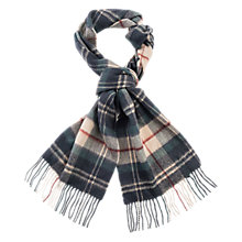 Buy Barbour Land Rover Defender Tartan Cashmere Scarf, Navy/Multi Online at johnlewis.com