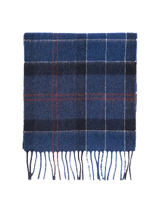 Buy Barbour Holden Tartan Scarf, Navy Online at johnlewis.com