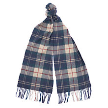 Buy Barbour Land Rover Defender Tartan Scarf, Navy/Multi Online at johnlewis.com