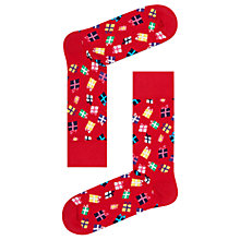 Buy Happy Socks Christmas Present Socks, One Size, Red/Multi Online at johnlewis.com