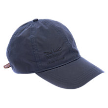 Buy Barbour Defender Waxed Cap, One Size, Navy Online at johnlewis.com