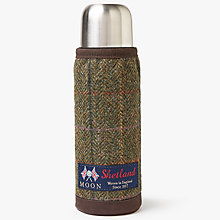 Buy John Lewis Moon Wool Check Thermal Insulating Flask, Brown Online at johnlewis.com