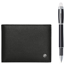 Buy Montblanc StarWalker Platinum Fineliner and Westside Wallet Gift Set, Black Online at johnlewis.com