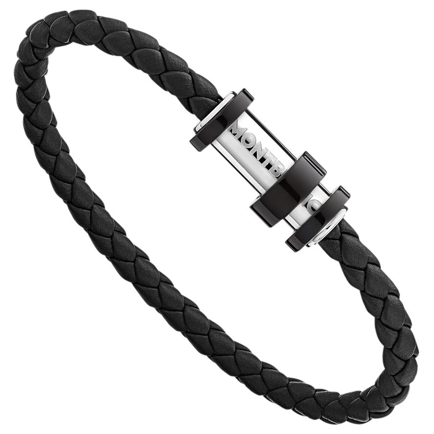Montblanc Montblanc Men's Woven Leather Bracelet